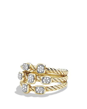 David Yurman - Confetti Ring with Diamonds in Gold