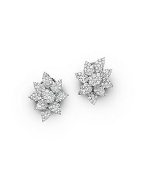 Bloomingdale's - Diamond Cluster Flower Stud Earrings in 14K White Gold, 3.50 ct. t.w. - 100% Exclusive