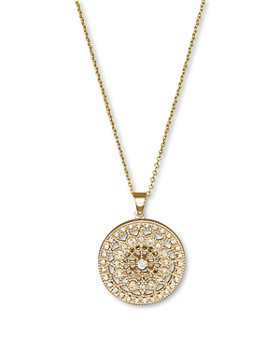 Bloomingdale's - Diamond Medallion Pendant Necklace in 14K Yellow Gold, .25 ct. t.w.- 100% Exclusive
