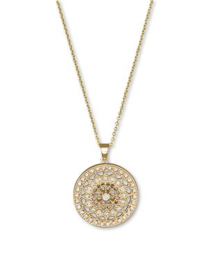 Diamond Medallion Pendant Necklace in 14K Yellow Gold, .25 ct. t.w.