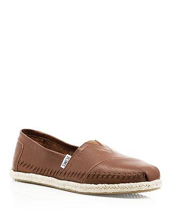 f5c6a29aa TOMS Women's Seasonal Classics Leather Espadrille Flats | Bloomingdale's