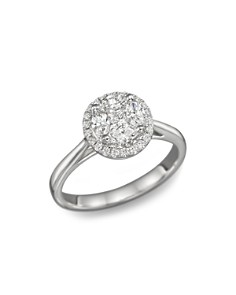 Bloomingdale's - Diamond Cluster Halo Ring in 14K White Gold, .45 ct. t.w. - 100% Exclusive
