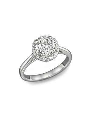 Diamond Cluster Halo Ring in 14K White Gold, .45 ct. t.w. - 100% Exclusive