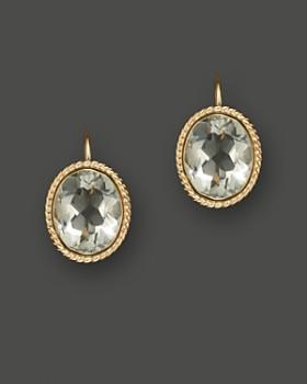 Bloomingdale's - 14K Yellow Gold Bezel Set Large Drop Earrings with Prasiolite- 100% Exclusive