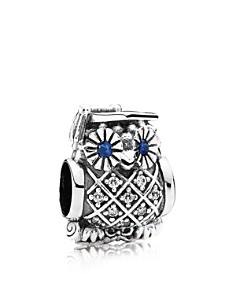 PANDORA Moments Collection Sterling Silver, Cubic Zirconia & Crystal Graduate Owl Charm - Bloomingdale's_0