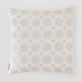 "Sivaana - Snowflake Decorative Pillow, 20"" x 20"""