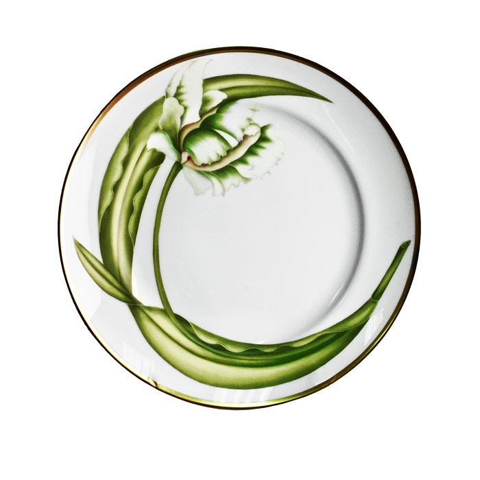 Anna Weatherley - White Tulips Salad Plate