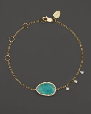 Meira T 14K Yellow Gold Amazonite Bracelet with Diamonds
