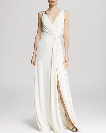 ad9331f3498 HALSTON HERITAGE Gown - Sleeveless Drape Jersey Drape Back ...