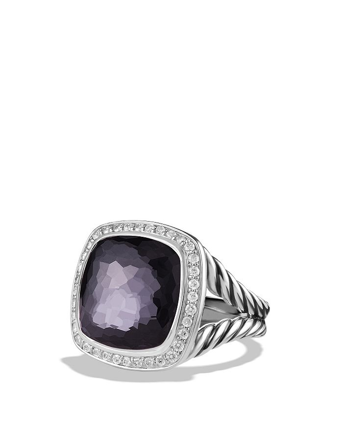 David Yurman Albion Ring With Lavender Amethyst And Diamonds In Purple/Gray