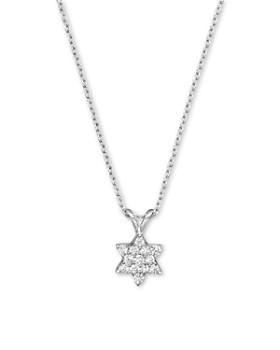 Bloomingdale's - Diamond Star of David Pendant Necklace in 14K White Gold, .25 ct. t.w. - 100% Exclusive