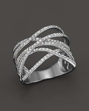 Click here for Diamond Crossover Ring in 14K White Gold  .55 ct.... prices