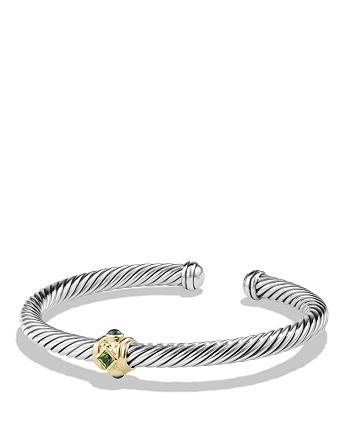 David Yurman - Renaissance Bracelet with Chrome Diopside, Hampton Blue Topaz and 14K Gold