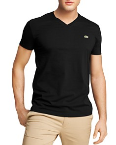 Lacoste Solid V-Neck Tee - Bloomingdale's_0