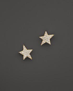 KC Designs - Diamond Star Stud Earrings in 14K Yellow Gold, .14 ct. t.w.
