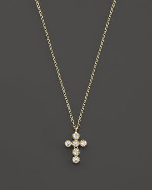 Kc Designs Diamond Cross Pendant Necklace in 14K Yellow Gold, 16