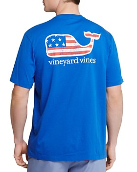 Vineyard Vines - Graphic Flag Whale Pocket Tee