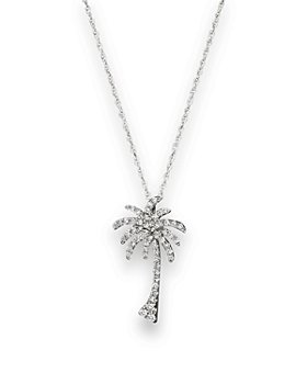 Bloomingdale's - Diamond Palm Tree Pendant Necklace in 14K White Gold, .25 ct. t.w.- 100% Exclusive