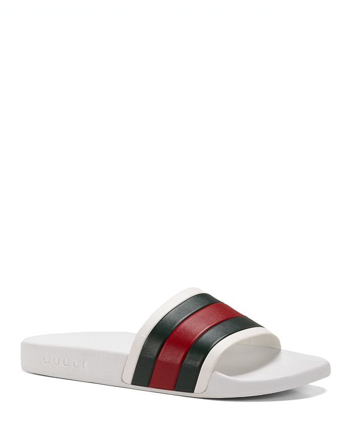 6b0bc3252 Gucci Men's Rubber Slide Sandals | Bloomingdale's
