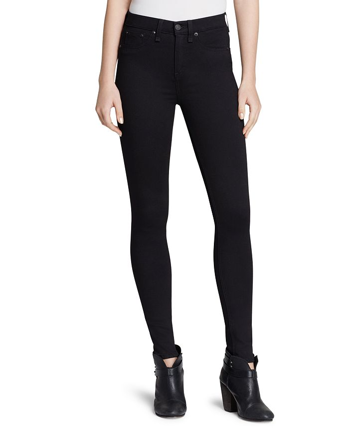 1a20718a91a150 rag & bone/JEAN Ankle Leggings - The High Rise in Black | Bloomingdale's