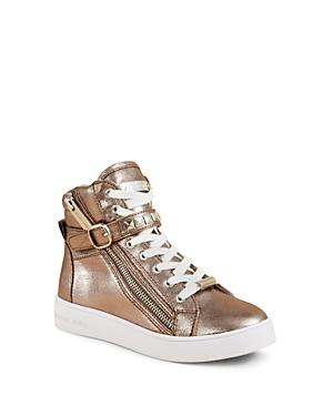 Michael Michael Kors Girls' Ivy Rory Zip Up High Top Sneakers - Walker, Toddler