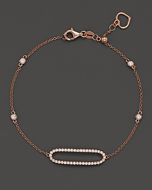 Diamond Oval Bracelet in 14K Rose Gold, .35 ct. t.w. - 100% Exclusive
