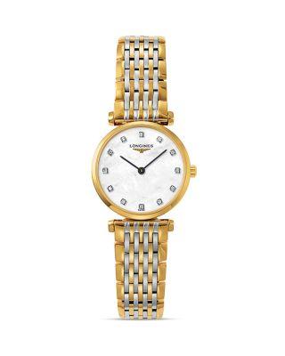 La Grande Classique Watch, 24Mm, Silver/ Mop/ Gold