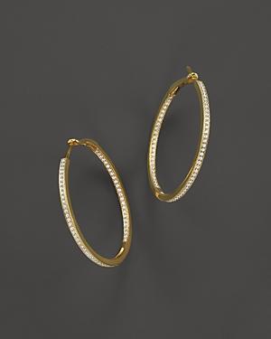 Diamond Inside-Out Hoop Earrings in 14K Yellow Gold, .50 ct. t.w. - 100% Exclusive
