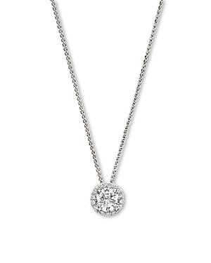 Diamond Halo Pendant Necklace in 14K White Gold, .35 ct. t.w. - 100% Exclusive