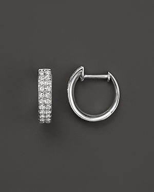 Diamond Hoop Earrings in 14K White Gold, .50 ct. t.w. - 100% Exclusive
