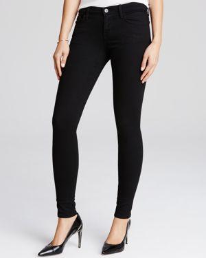 J Brand Black Low Rise Jeans in Vanity