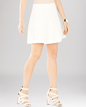 Bcbgmaxazria Queeny Chevron Jacquard A-Line Skirt