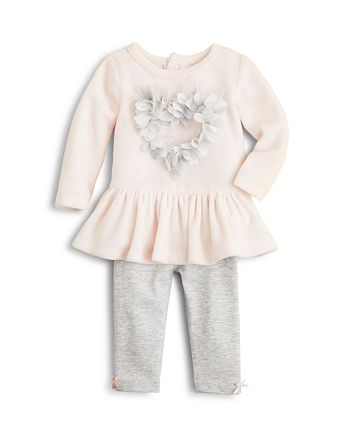 Bloomie's - Girls' Velour Peplum Top & Leggings Set, Baby - 100% Exclusive
