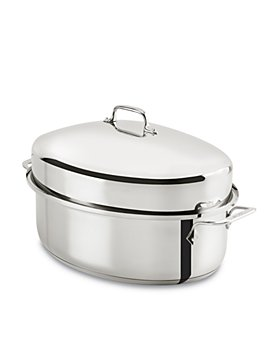 All-Clad - Stainless Steel Covered Oval Roaster
