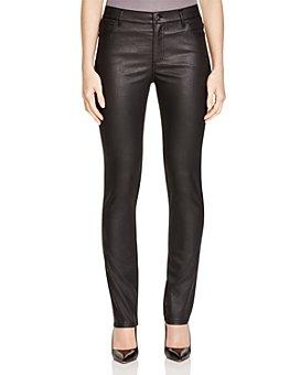 Lafayette 148 New York - Coated Curvy Slim Leg Jeans in Black