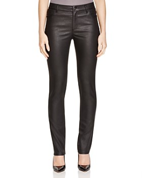 Lafayette 148 New York - Coated Curvy Slim Leg Jeans in Black