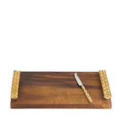 Michael Wainwright Truro Gold Wood Cheese Tray with Knife - Bloomingdale's Registry_0