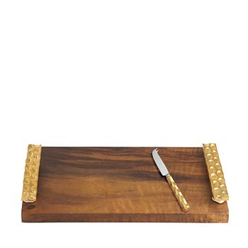 Michael Wainwright - Truro Gold Wood Cheese Tray with Knife