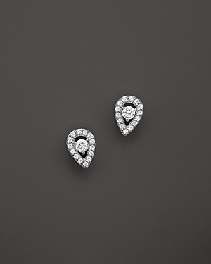Diamond Pear Shape Stud Earrings in 14K White Gold, .20 ct. t.w. - 100% Exclusive