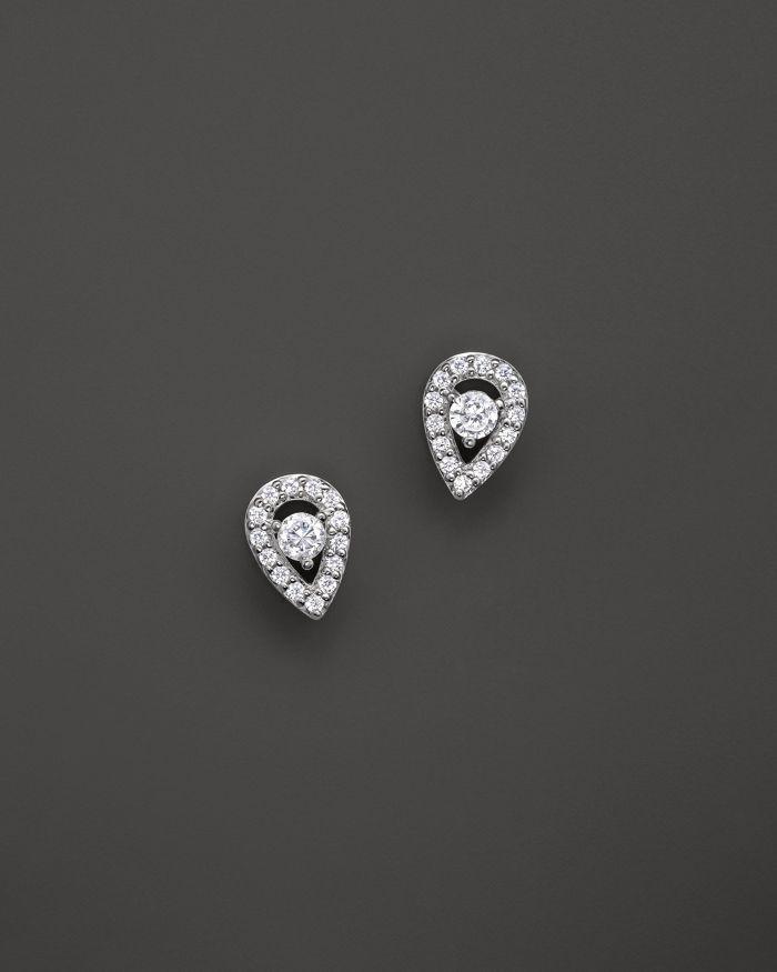 Bloomingdale's Diamond Pear Shape Stud Earrings in 14K White Gold, .20 ct. t.w. - 100% Exclusive  | Bloomingdale's