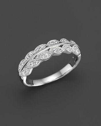 Bloomingdale's - Diamond Vintage Inspired Band Ring in 14K White Gold, .25 ct. t.w.- 100% Exclusive