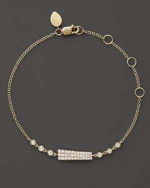 Meira T 14K Yellow Gold Asymmetrical Diamond Bar Bracelet