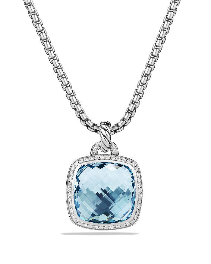 David Yurman - Albion Pendant with Blue Topaz and Diamonds