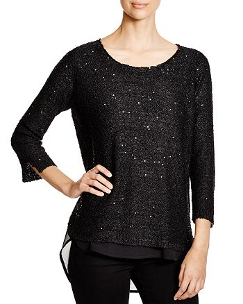 Sioni - Mixed Media Sequin Sweater