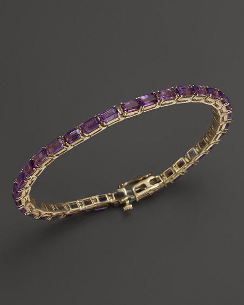 Bloomingdale's - Amethyst Bracelet in 14K Yellow Gold- 100% Exclusive