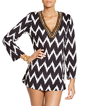 La Blanca Night Waves V-Neck Tunic Swim Cover-Up