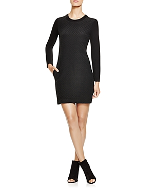 Dkny Quilted Long Sleeve Dress