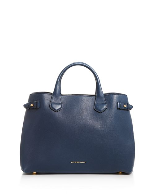 Burberry Banner House Check Medium Leather Tote