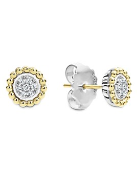 LAGOS - LAGOS 18K Gold and Diamond Caviar Stud Earrings