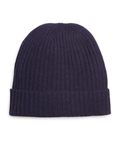The Men's Store at Bloomingdale's Ribbed Cashmere Cuff Hat _0